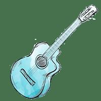 ציור של גיטרה